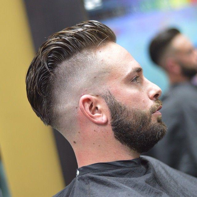 Haircut Fetish Guys Pinterest Fade Haircut With Beard Beard