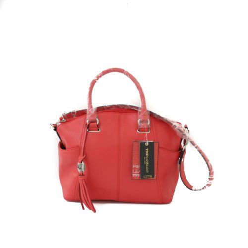 Tignanello Simple Sophisticated Poppy Convertible Satchel Handbag