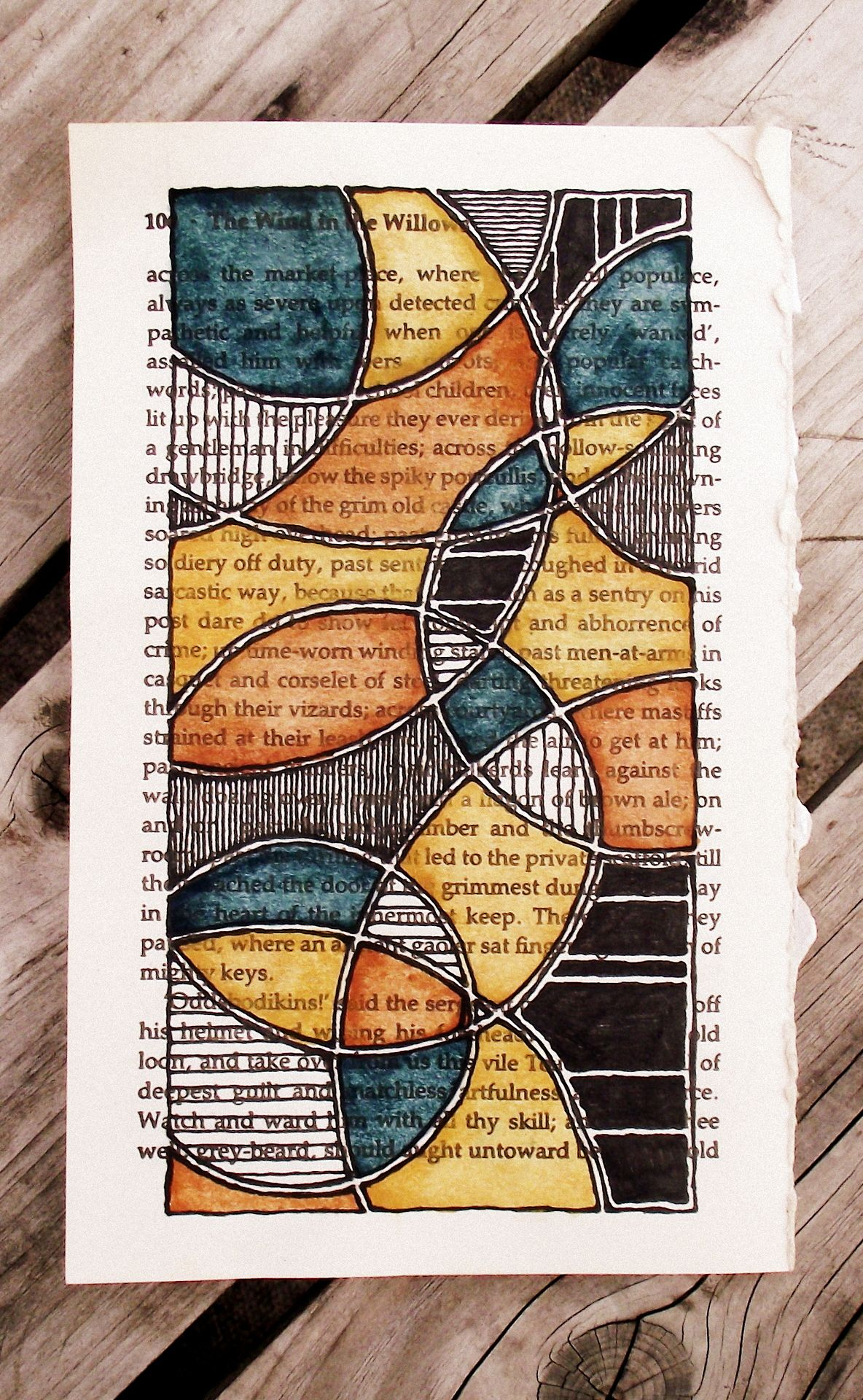 Pin By Mary Fassler On Zentangles Altered Book Art Book Page Art Art Journal Pages