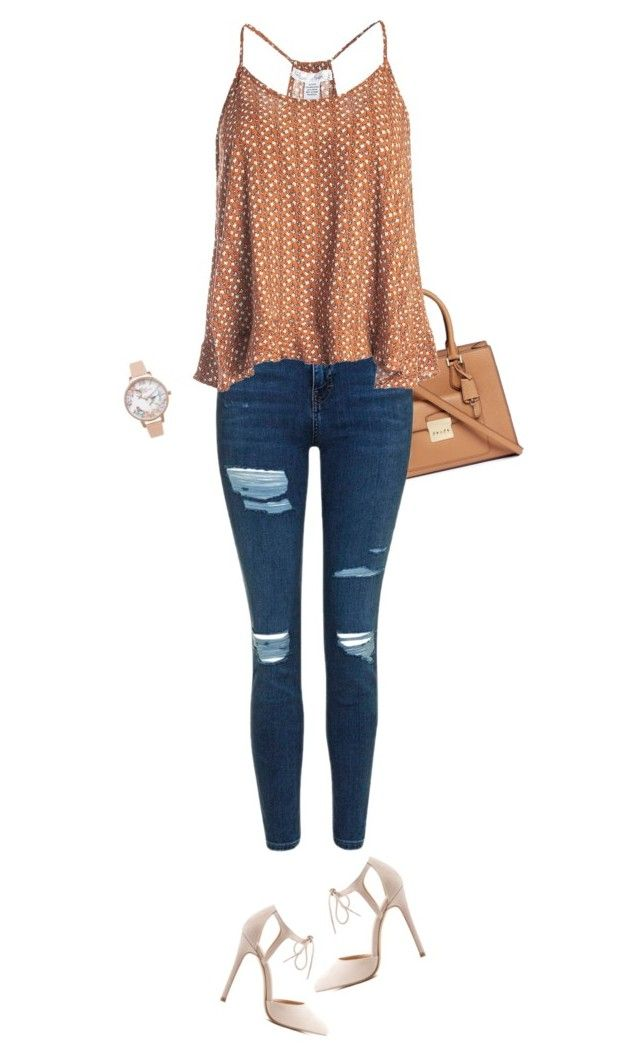 """Out and About"" by newyearscutie on Polyvore featuring Michael Kors, Topshop, Sans Souci, Charlotte Russe and Olivia Burton"
