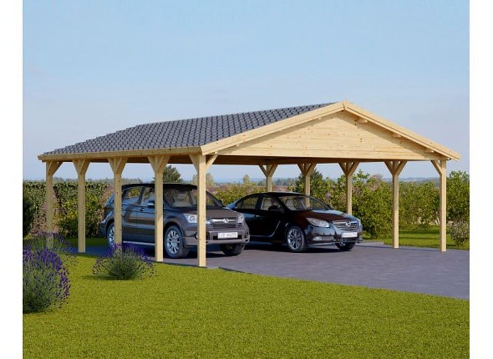 Pineca Group Scandinavian Style Garage Shed Homify Wooden Carports Carport Diy Carport