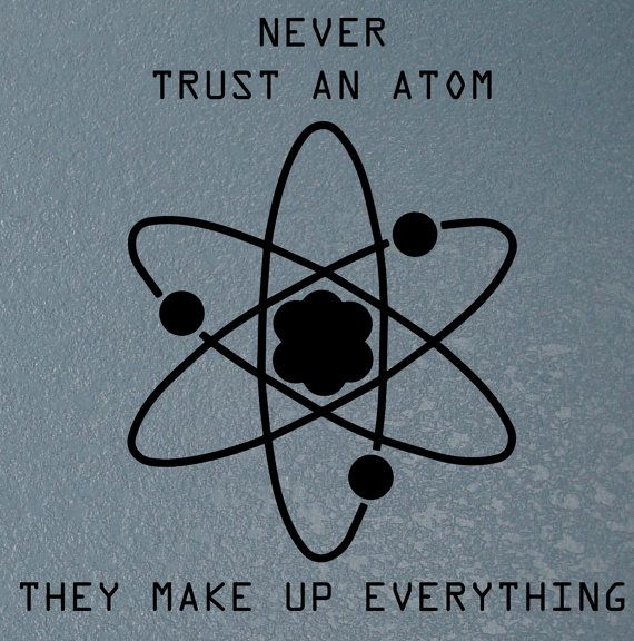 Science quote decal Atom wall decal Science by ...