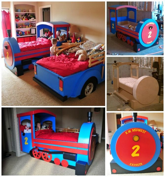 Diy Train Bed Instructions Free Plan Things I Like In 2018