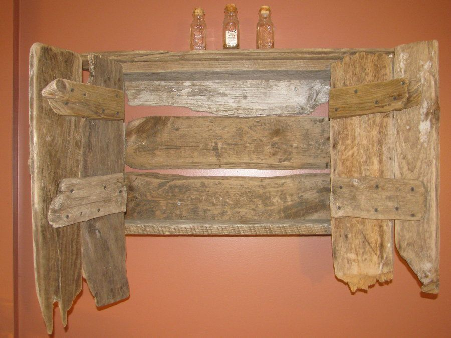 """Drifted"" lumber-wall cabinet - by NHwood @ LumberJocks.com ~ woodworking community"