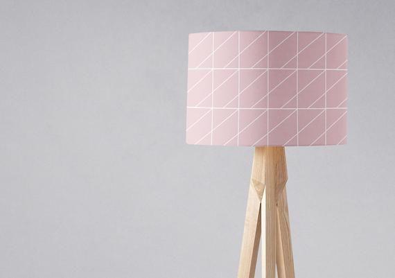 Pink Lampshade Light Shade, Pink And White Lamp Shades