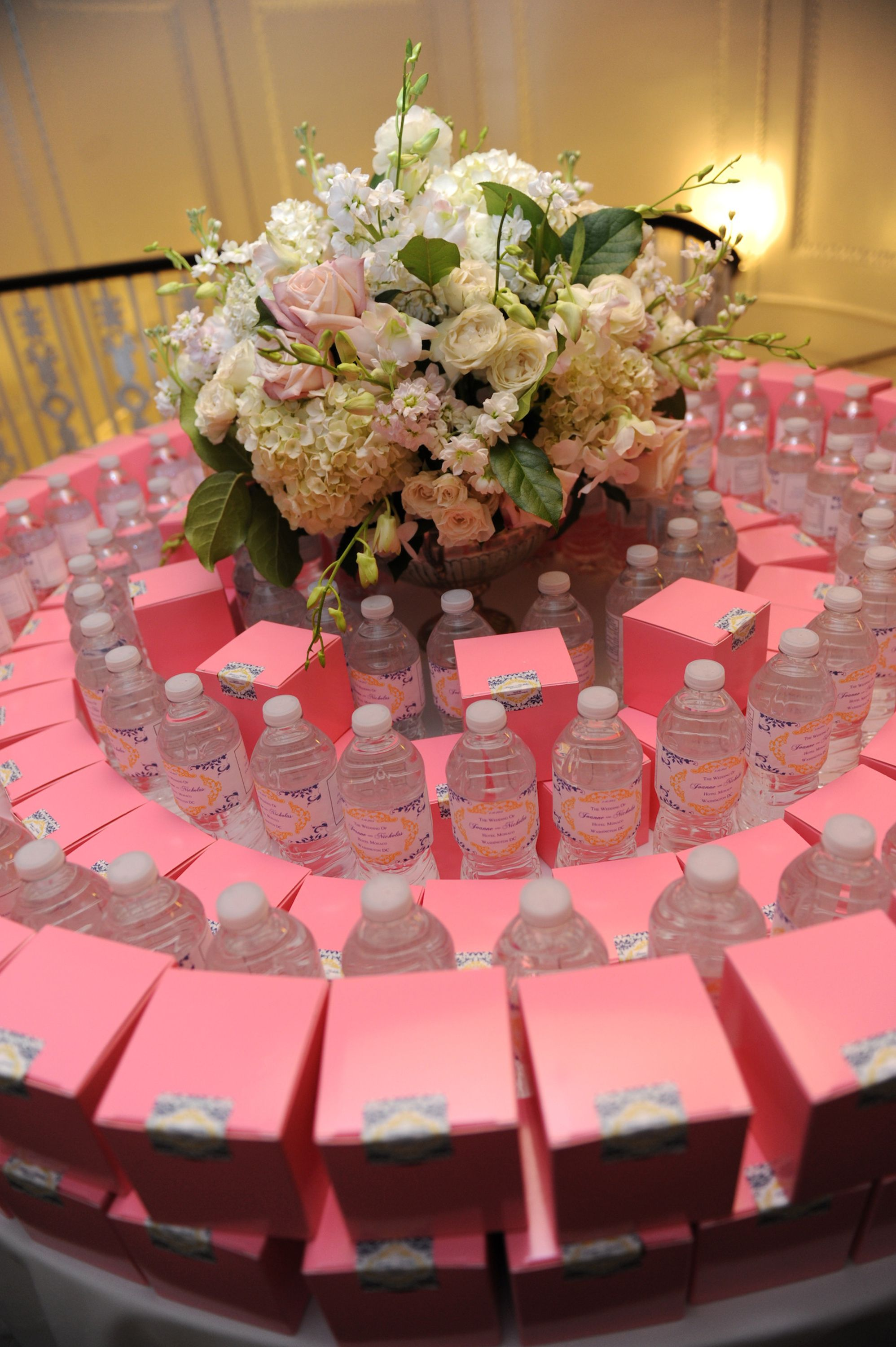 Wedding Favors: Personalized Water and Cherry Blossom Georgetown ...