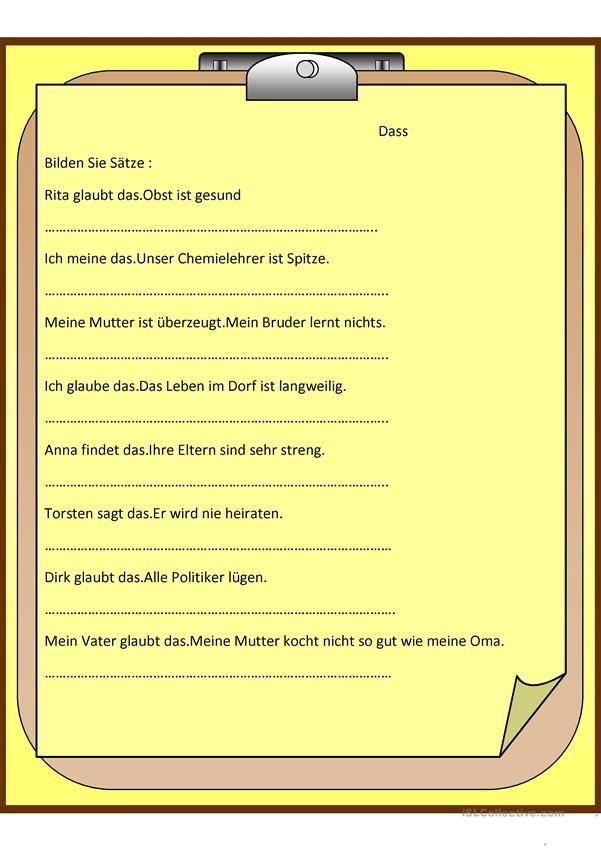 Dass Satz | german | Pinterest | German