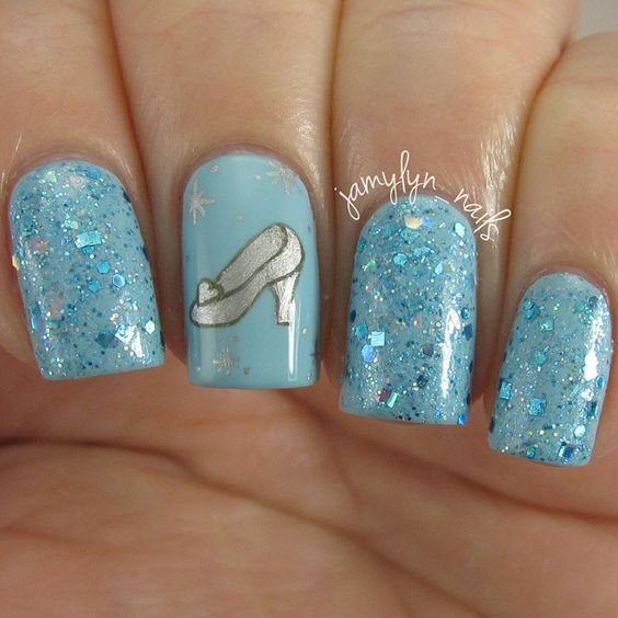 Prom nails - Pin By Mariana Saponara On Quince Pinterest Disney Ideas And