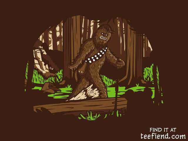 """""""The Bigfoot of Endor"""" by HoboRobo is only $10 at RIPTapparel http://www.teefiend.com/5635/the-bigfoot-of-endor/"""
