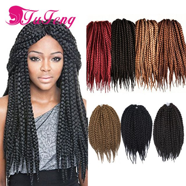 Box Braids Hair Crochet Braids Senegalese Twist Hair 12 14 18 22