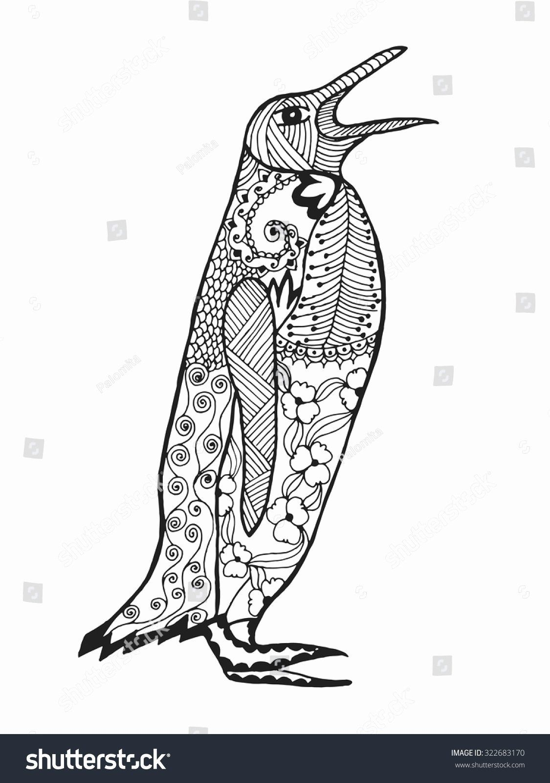 Adult Coloring Pages Penguin in 2020 Penguin coloring