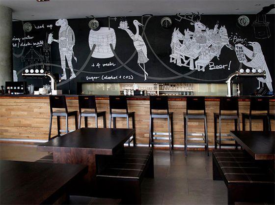 Bar Wall Mural With Matte Overlaminate Film Digitalprintmedia