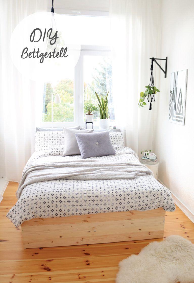 Diy Bettgestell Aus Holzplatten Bettgestell Bett Selber Bauen Diy Mobel Schlafzimmer