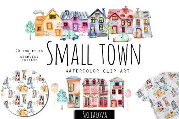 Watercolor House Clipart House Illustration Kids Clipart Etsy Kids Clipart Clip Art Watercolor Clipart
