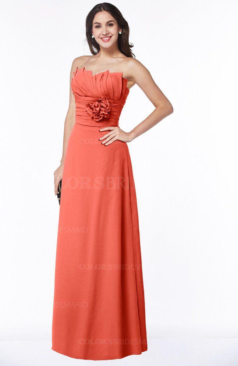 ColsBM Elaine - Living Coral Bridesmaid Dresses | weddings ...