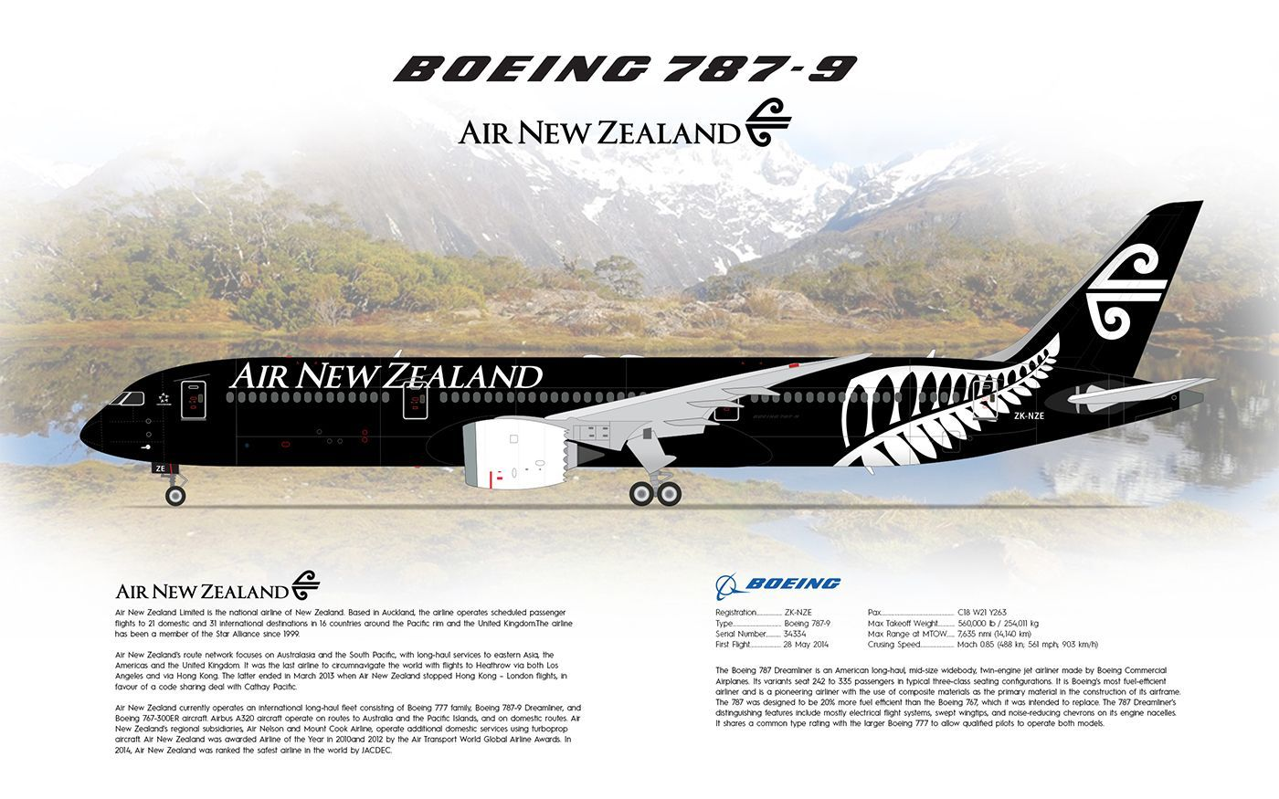 Air New Zealand Boeing 787-9 Dreamliner | Airplanes