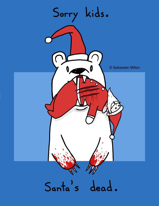 Omg 3 3 3 Santas Dead 85x11 Art Print 15 Sebastien Millon
