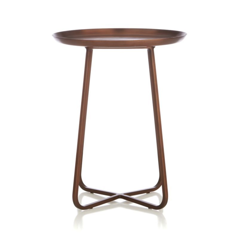 Copper Accent Table Coffee Crate And Barrel Inspiration