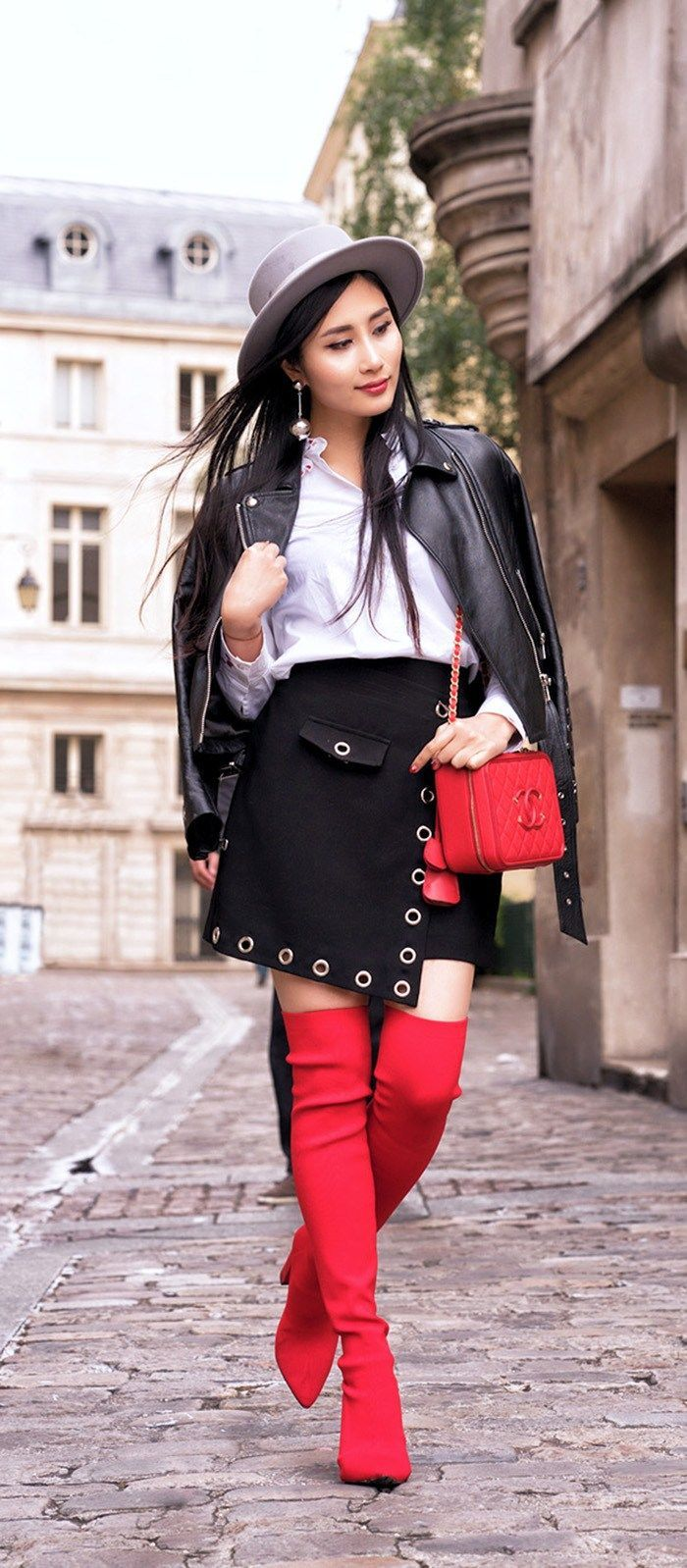 0b727b2b8be Styling the  It  Shoes of the Season  Red Over The Knee Boots ...