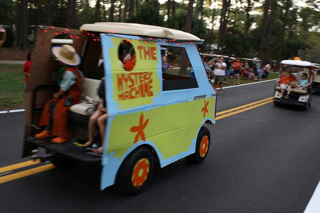 decorate your golf cart for halloween scooby doo