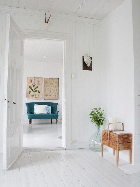 White Scandinavian Home Contemporary Living Room White Wood Floors In 2020 White Painted Floors White Hardwood Floors White Wood Floors