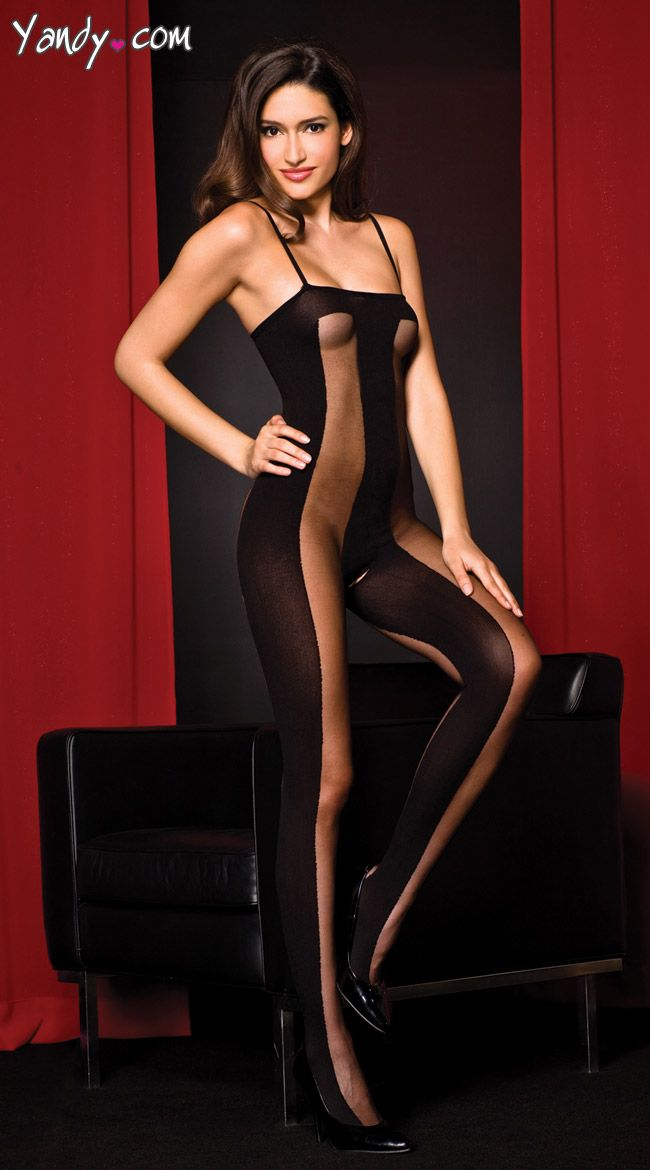 1745a2c9e54 Mesh and Opaque Bodystocking | Sexy Janna | Elastic stockings ...