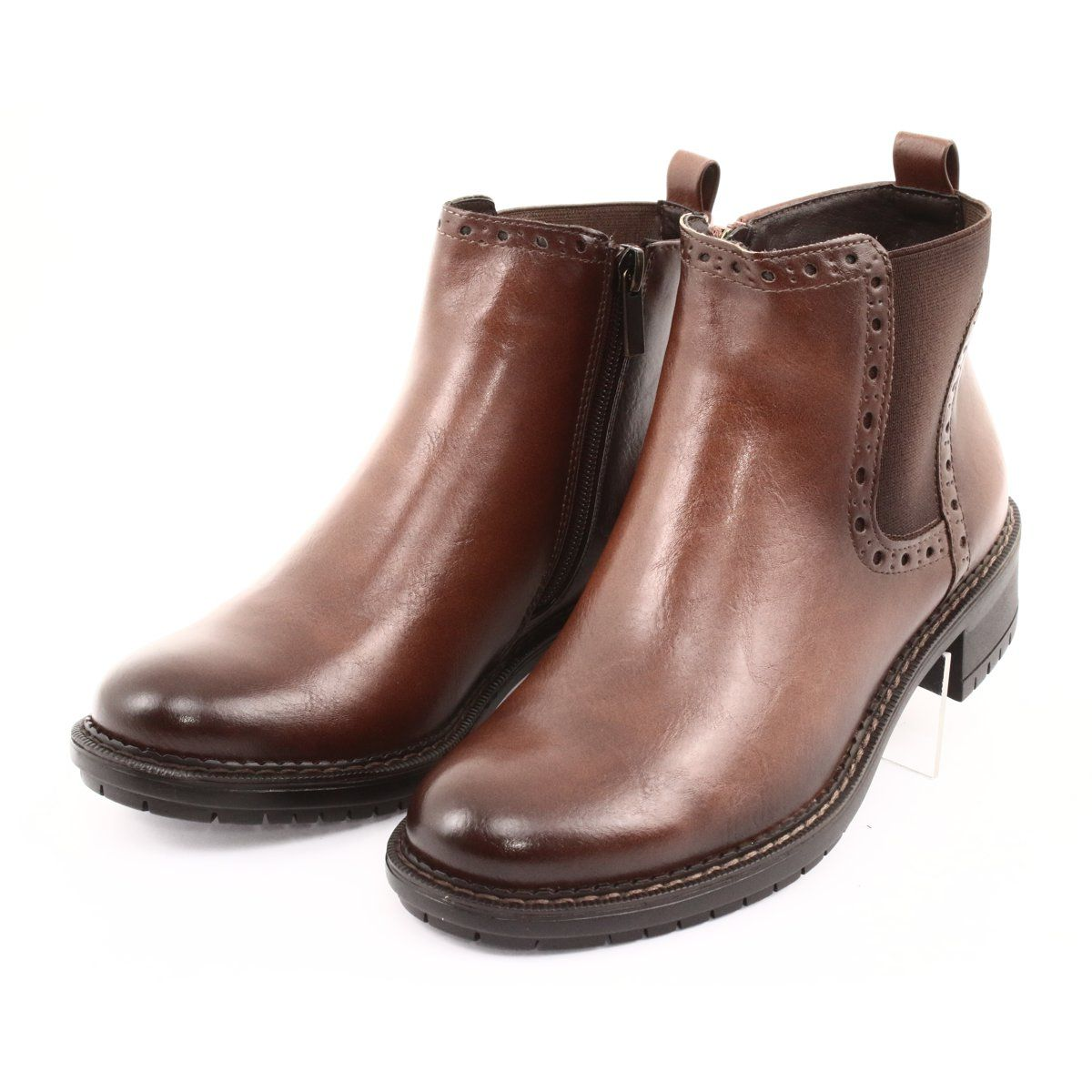 Botki Sztyblety Na Suwak Filippo 957 Brazowe Boots Jodhpur Boots Womens Boots Ankle