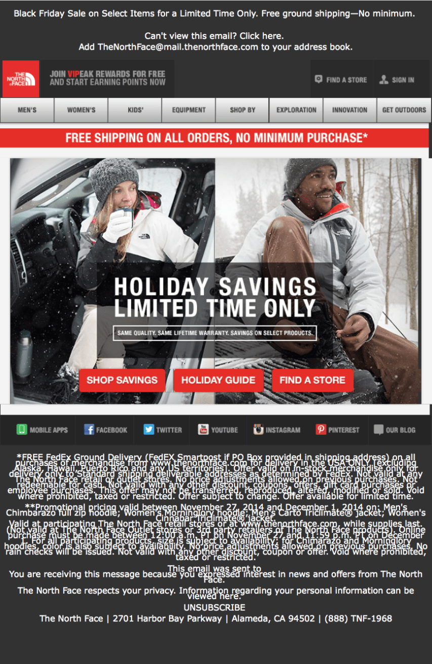 The North Face Black Friday Ad Page 1 Black North Face The North Face Black Friday Ads