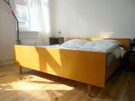 50er 60er Jahre Retro Bett (Vintage Style) mit Lattenrost