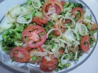 I learnt this simple recipe from my aunt, Eedo Rabica who loves salads. We eat this salad after the main lunch. I always wondered why we eat the salad last and not first like everyone else. Then I learnt that we inherited this habit from the Italians who colonised Somalia....