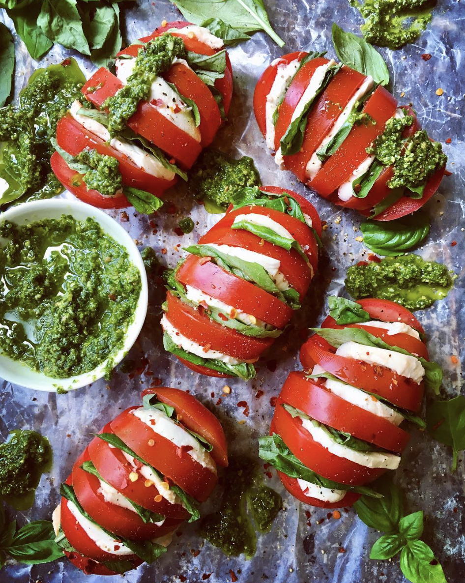This Caprese Style Hasselback Roma Tomatoes recipe is