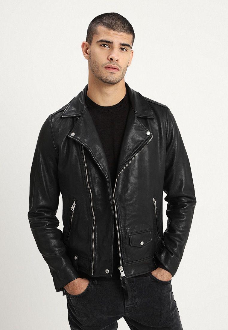 Allsaints Brett Biker Leather Jacket Black Zalando Ie Leather Jacket Leather Jacket Black Leather Jacket Men [ 1100 x 762 Pixel ]