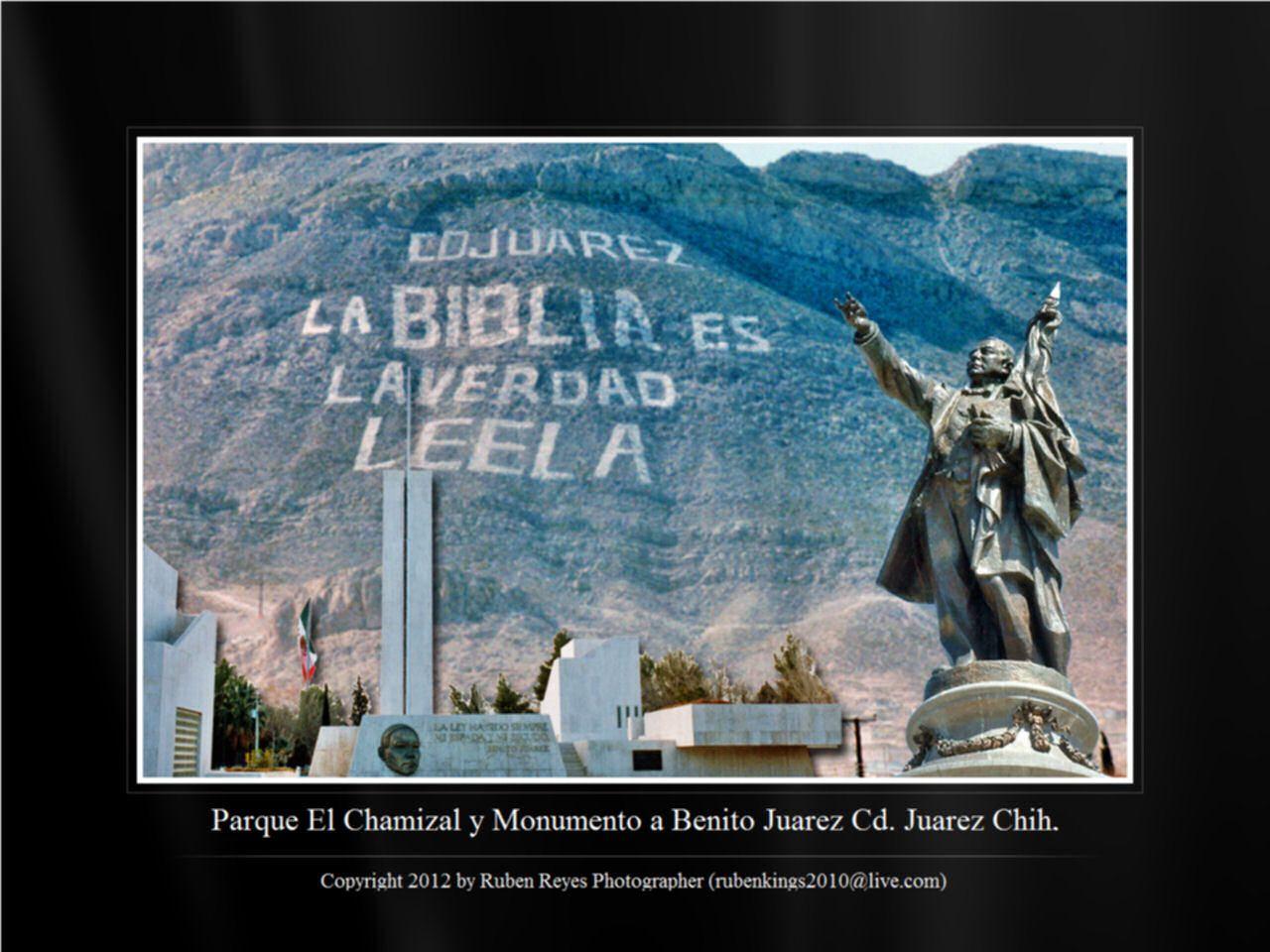 Parque El Chamizal y Monumento a Benito Juarez en Cd. Juarez Chih.