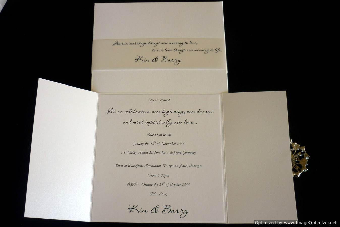 Black and White Elegant Wedding Invitation by StunningStationer