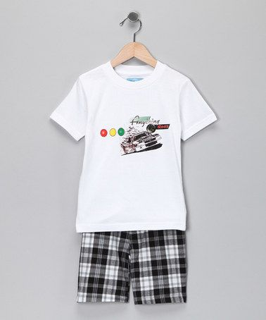 White 'Anything Goes' Tee & Shorts - Toddler by Tuff Kids #zulily #zulilyfinds Ordered~
