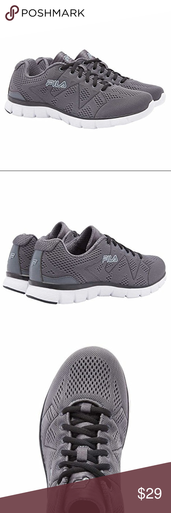 c5c8825f038e Fila Men s Athletic Shoe Memory Memory Foam Gray Fila Men s Athletic Shoe Memory  refractive Foam Gray mesh Imported Memory foam insole Breathable mesh upper  ...