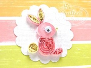 easy paper quilling animal: love the presentation!!
