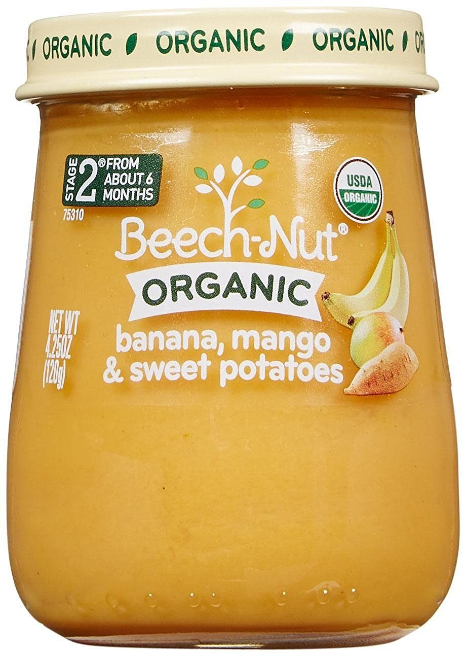 Beechnut just organic stage 2 purees banana mango