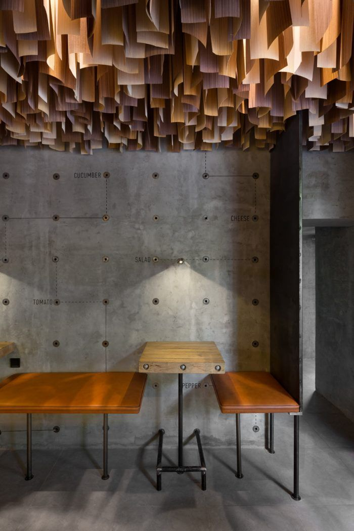 Shade Burger restaurant branding & interior design - Grits + Grids