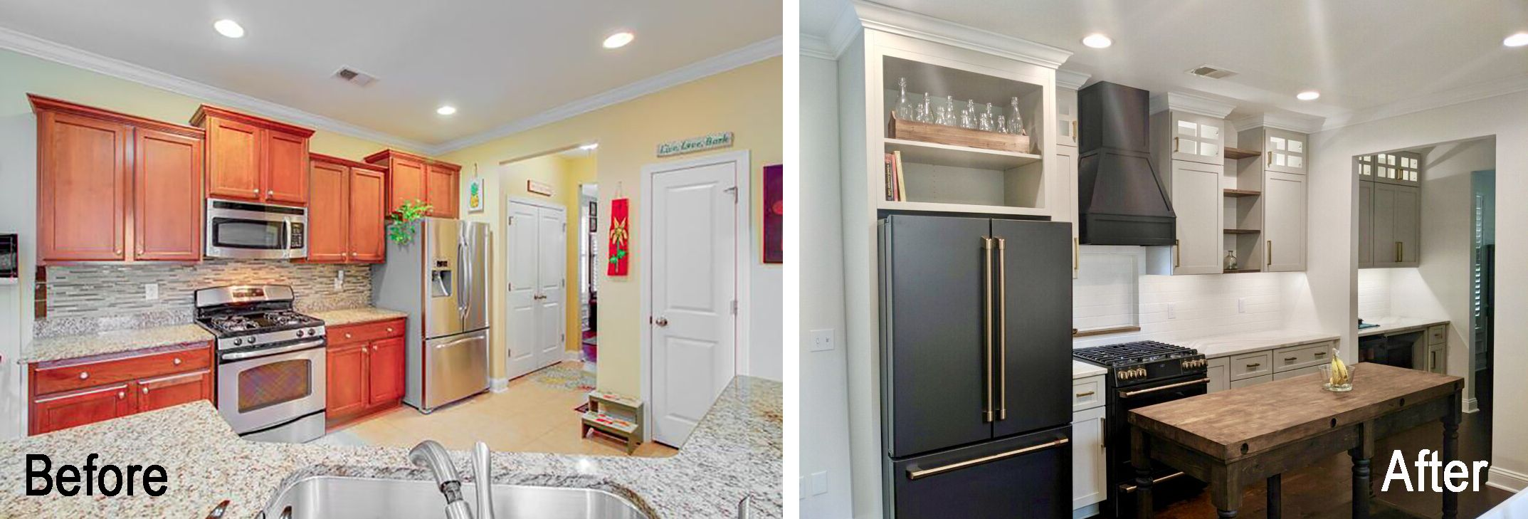 Transitional Kitchen Remodel With Creative Custom Work Kitchen Remodeling Projects Refacing Kitchen Cabinets Home Kitchens