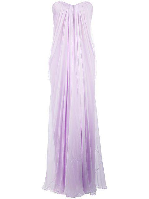 ALEXANDER MCQUEEN Draped Bustier Evening Dress. #alexandermcqueen ...