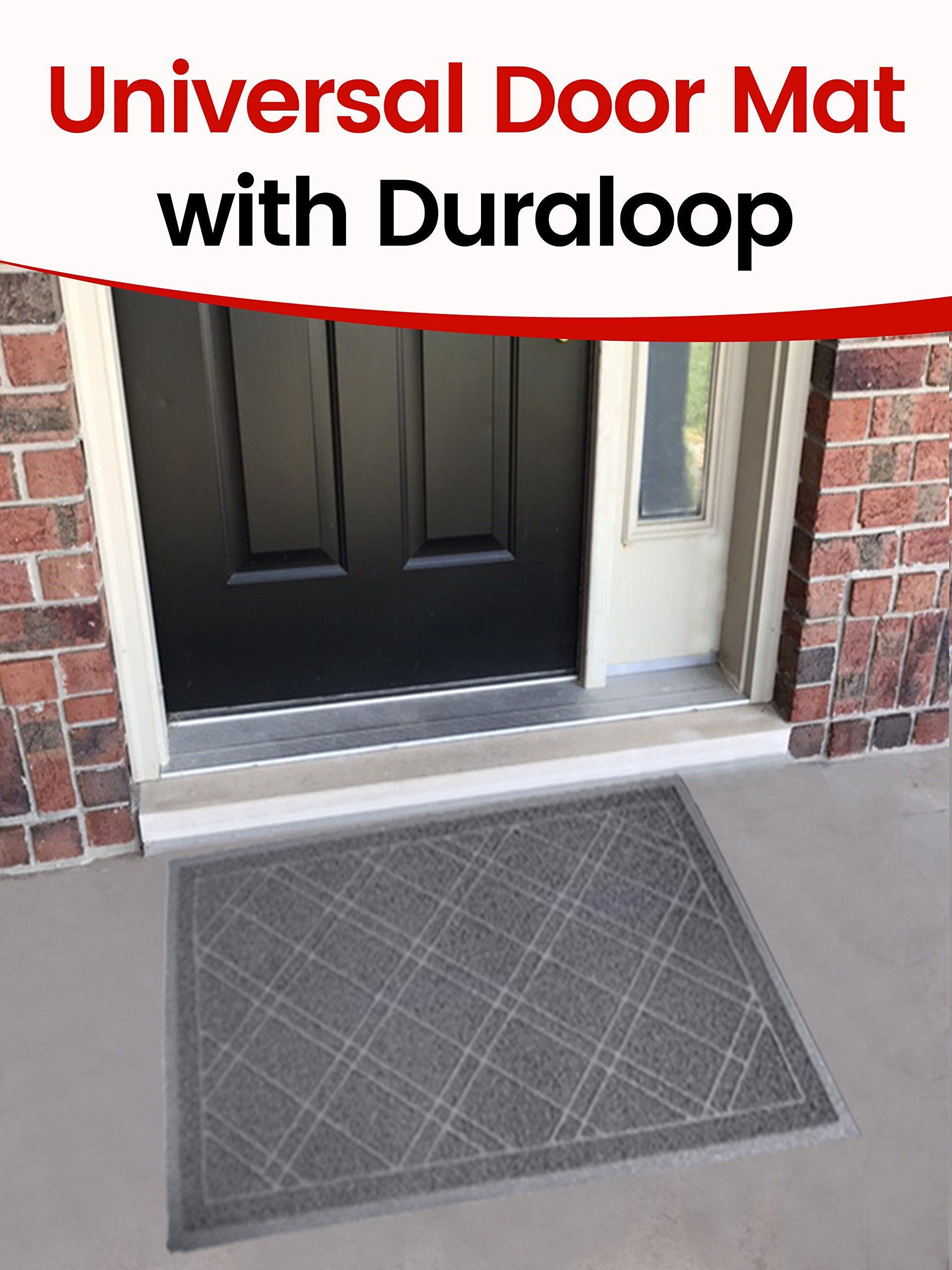 Sliptogrip Jumbo Door Mat Indoor Outdoor 42x35 Gray Duraloop Want To Know More Click On The Image It Is An Affiliate Link Grey Door Mats Doors Door Mat