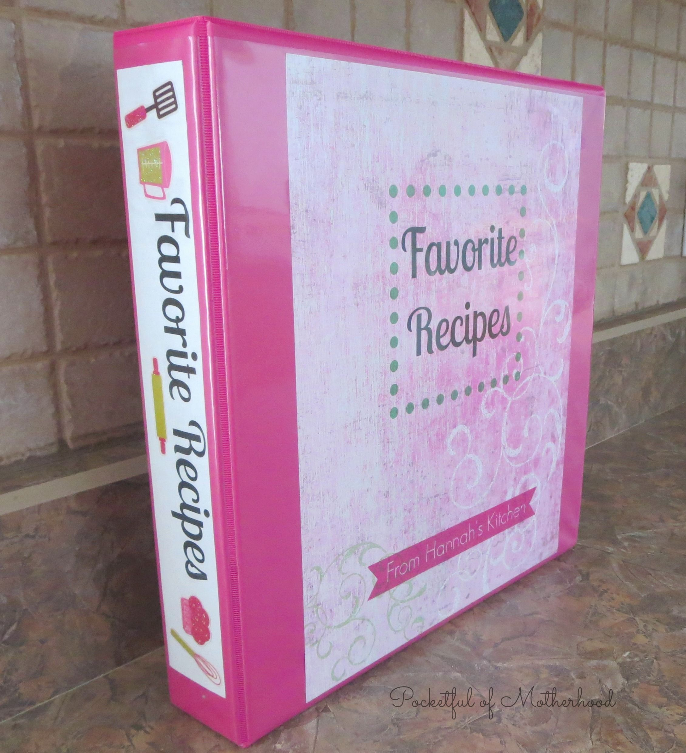 Diy recipe binder homemade recipe books family recipe