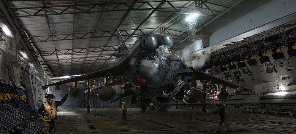 Brandon Gobey Wallpapers: Hangar 22 Sci-Fi Concept Art By Brandon Gobey