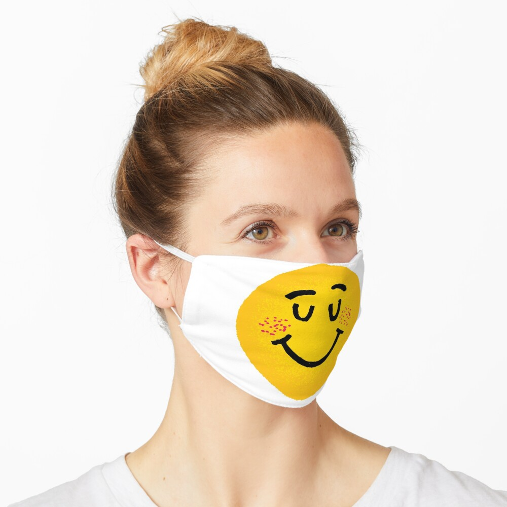 'Funny Smiley Face Emoji ' Mask by Lifezena Art in 2020