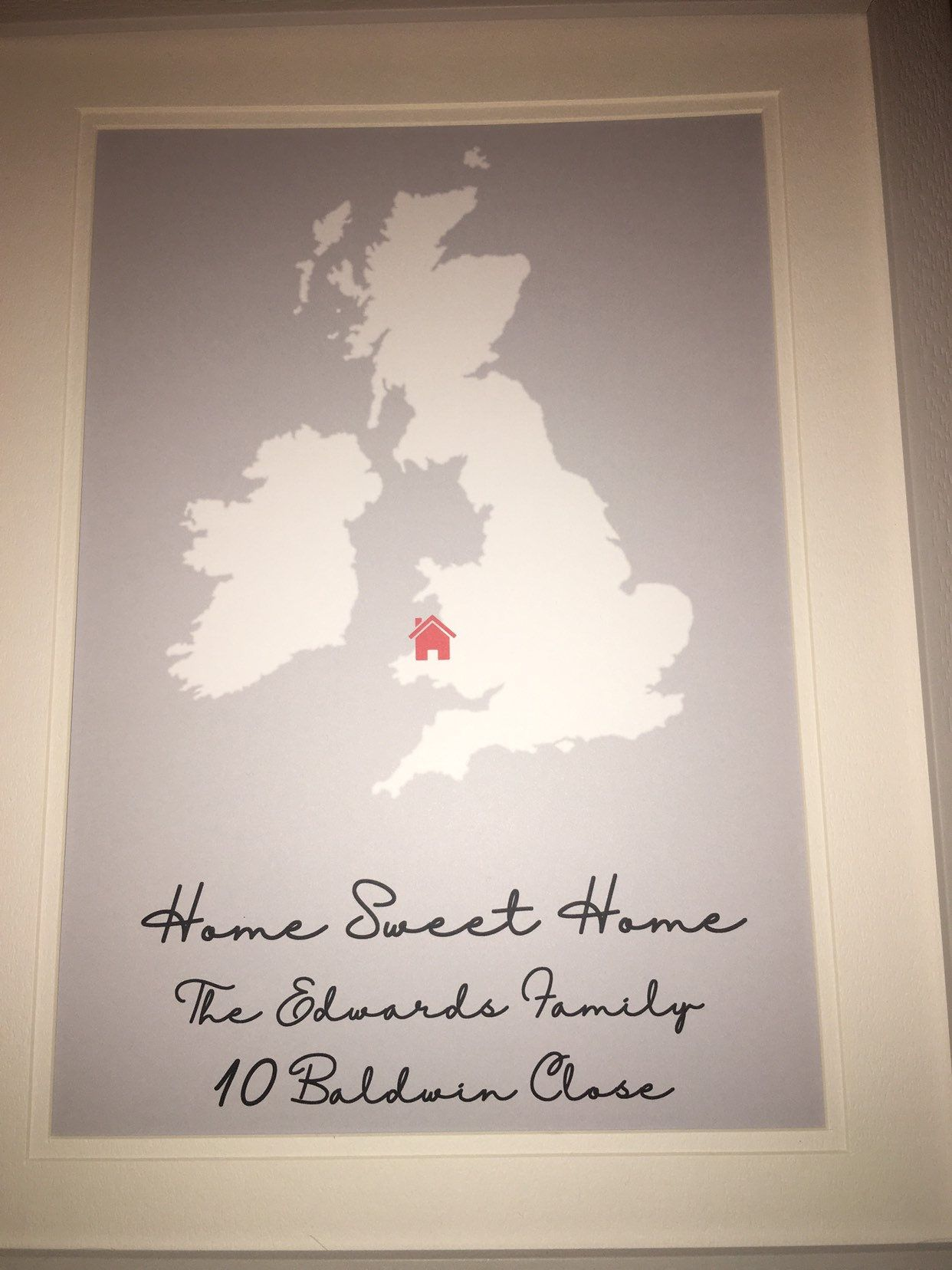 Personalised New Home Gifts Home Sweet Home Print Our First Home Print Personalised