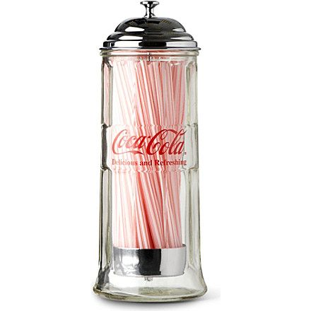 Image result for classic coca-cola straw dispenser