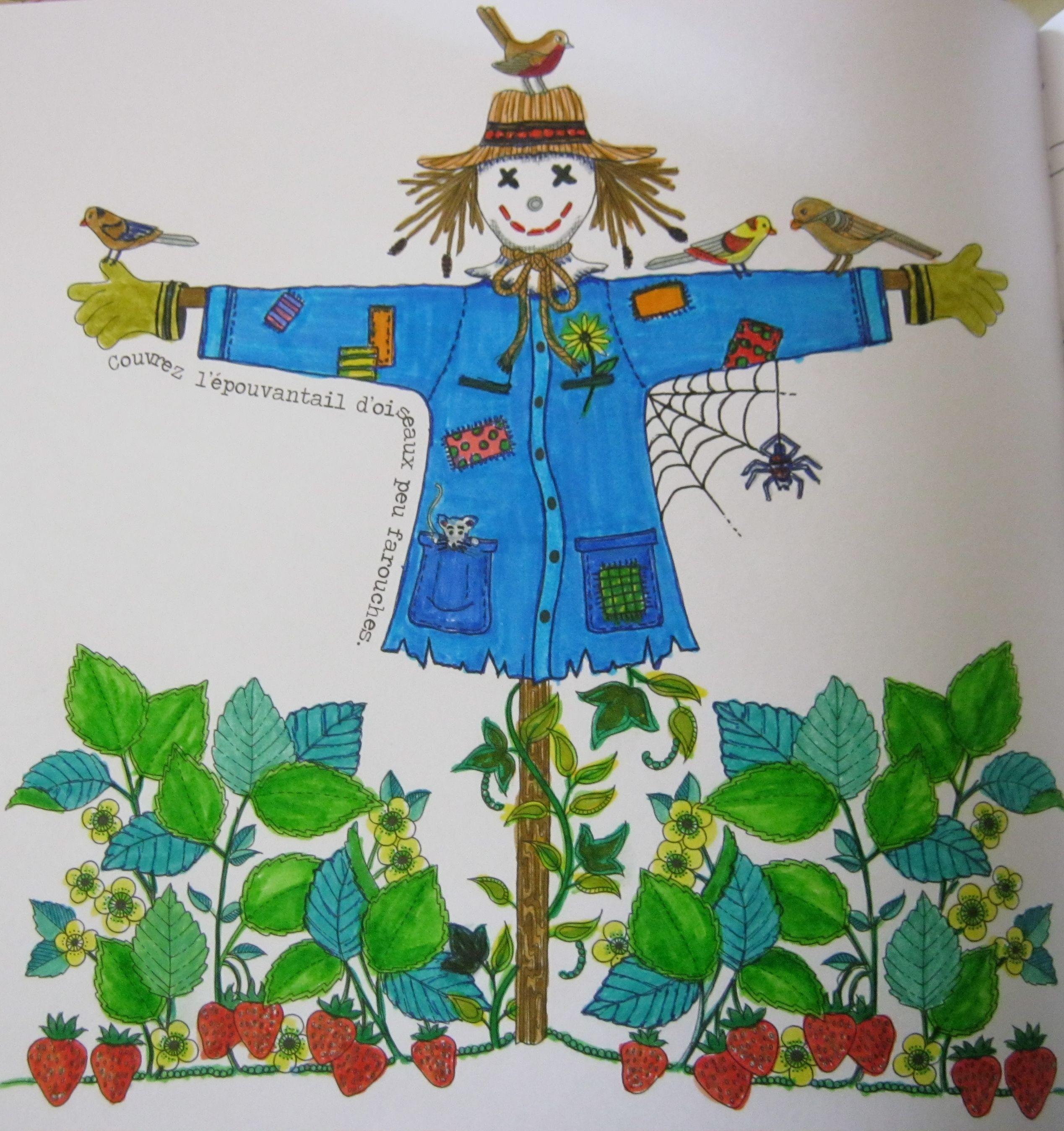 Mon pouvantail de jardin secret mes quelques bricoles - Mon jardin secret coloriage ...