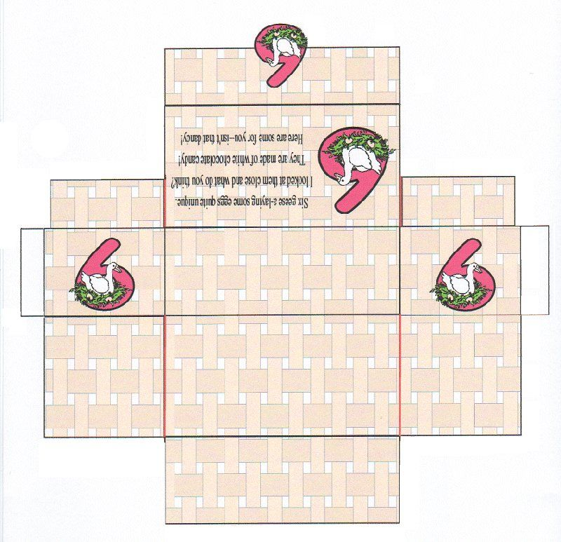 chocolate boxes template | Gramma's 12 Days of Christmas | 12 days of christmas, Gift wrap ...