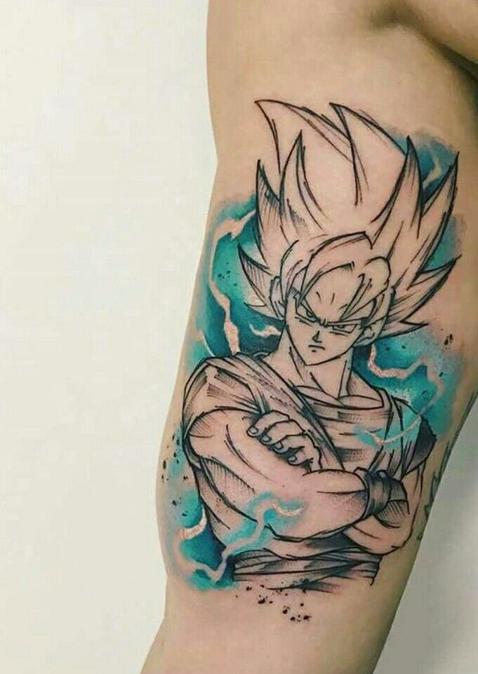 Tattoos Tatuajes Dbz Kakarotto Goku Tattoos Tattoos Anime